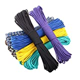 Elibone 550 Paracord Parachute Cord Lanyard Tent Rope Mil Spec Type III 7 Strand 100FT Paracord for Hiking Camping 200 Colors, Message,50feet