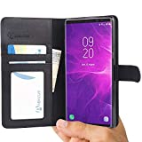 Abacus24-7 Samsung Galaxy Note 9 Case, Note9 Wallet with Flip Cover and Stand, Black