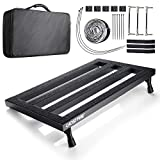 "Vangoa Guitar Pedal Board Aluminum Alloy 3.3lb. Lightweight Pedalboard 19.8"" x 11.5"" with Carry Bag, Guitar Pedal Cable"