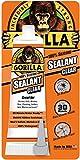 Gorilla 100 Percent Silicone Sealant Caulk, 2.8 ounce Squeeze Tube, Clear