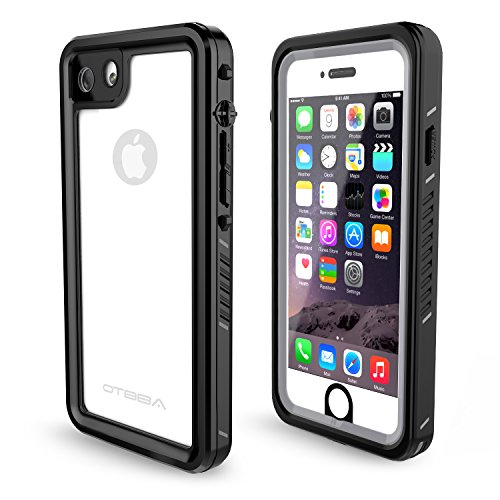 OTBBA iPhone 7/8 Waterproof Case,IP68 Certified Waterproof Shockproof Snowproof Dirtproof Full Body Protective Underwater Case for iPhone 7/8 (Clear)