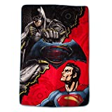 Batman vs Superman Plush Blanket - Twin 62x90 - Multicolor