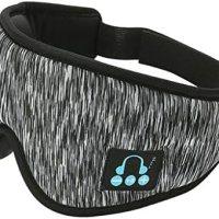 IPOTCH uyku kulaklığı, 3D göz maskesi, Bluetooth 5.0 kablosuz müzik maskesi, göz farı kapağı, göz farı kapağı, erkek kadın uyku, seyahat için, koyu gri 15