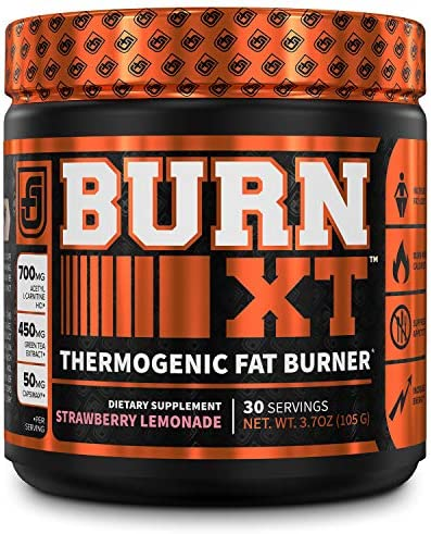 Burn-XT Thermogenic Fat Burner Powder - Weight Loss Supplement, Appetite Suppressant, Pre Workout Energy Booster - Acetyl L Carnitine, Green Tea Extract (EGCG), Capsimax - 30 Sv, Strawberry Lemonade 3