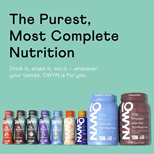 OWYN - 100% Vegan Plant-Based Protein Shakes | Dark Chocolate, 12 Fl Oz (Pack of 12) | Dairy-Free, Gluten-Free, Soy-Free, Tree Nut-Free, Egg-Free, Allergy-Free, Vegetarian 8