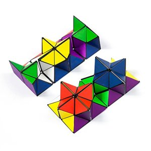 Autrix Magic Star Cube Transforming Geometric Puzzle Toys for Kids and Adults(2 Pieces) 51raL gLXYL
