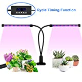 Grow Light, [Cycle Timing] 40W Dual Head Timing Grow Light, Ankace 36 LED 5 Dimmable Levels Plant Grow Lights for Indoor Plants with Red/Blue Spectrum, Adjustable Gooseneck, 3 Switch Modes