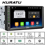 KURATU [K8432] 7 inch IPS Panel Android 8.0 Octa-Core 4GB+32GB,Android Auto,Quick Charge 3.0 car Stereo Radio Double Din with WiFi Built-in Bluetooth GPS Navigation, Support Fastboot, Backup Camera
