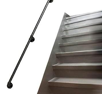 Tools Home Improvement Black Iron Handrail Stairs Kit Water Pipe | Black Iron Pipe Handrail | Custom Iron | Galvanized Pipe | Stairway | Aluminum Pipe | Water Pipe