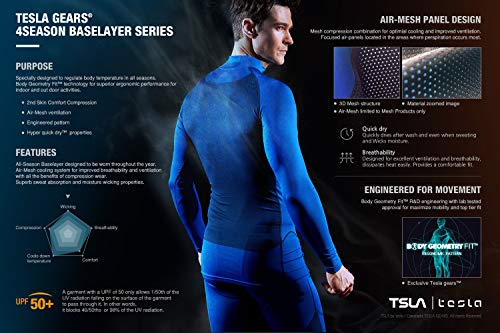 TSLA Men's Mock Long-Sleeved T-Shirt Cool Dry Compression Baselayer Top 16 Fashion Online Shop gifts for her gifts for him womens full figure