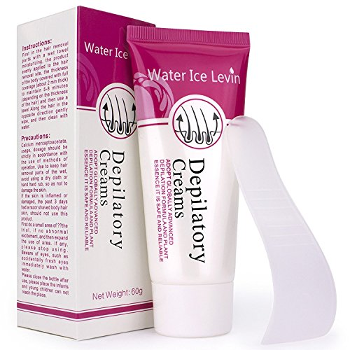 (Two bottles)Hair off cream Hair Removal Cream water ice levin Depilatory Cream Used on Bikini,Underarm,Chest, Back, Legs and Arms for Men and Women,Simple and fast(Send random gifts)