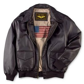 Landing Leathers Mens Air Force A-2 Leather Flight Bomber Jacket,Brown,Large