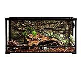 REPTIZOO Reptile Glass Terrarium,Double Hinge Door with Screen Ventilation Reptile Terrarium 36