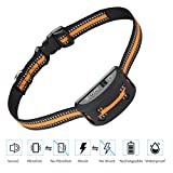 iWings Shock Collar for Dogs Upgraded Smart Detection Module with Triple Anti Barking Modes Collar: Beep/Vibration/Shock for Small, Medium, Large Dogs Breeds,Waterproof,Black