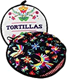 TWO SIDED! Tortilla Warmer, Size 11' Insulated and Microwaveable, Fabric Pouch Keeps Them Warm for up to One Hour! Perfect Holder for Corn & Flour For All Occasions! By ENdeas