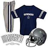 Franklin Sports Deluxe NFL-Style Youth Uniform - NFL Kids Helmet, Jersey, Pants, Chinstrap and Iron on Numbers Included - Football Costume for Boys and Girls, Dallas Cowboys, Small