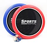 Sports Festival Slap Paddle Ball Hand Trampoline Super Disc Flying Disk Frisbee Bounce Game with Set of 2 with 1 Colorful Super Koosh Rubberband Bouncy Ball