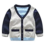 Product review for UWESPRING Baby Boys Classic Long Sleeve Knit Jumper V-Neck Cardigan Sweater