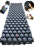 Rayan Deluxe Backpacking Sleeping Pad for Camping, Hiking or Travel - Ultralight Inflatable Sleep Mat - Lightweight, Compact and Comfortable Camp Air Mattress