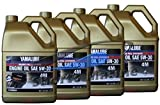 Yamaha Yamalube Four Stroke 5W-30 Full Synthetic Outboard Motor Oil (4 Gallons)