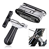 Oumers Bike Tool Kit, Bicycle Bike Repair Kit Set (Bike Chain Repair Tool with Chain Hook + 16 in 1 Multi-Function Mechanic Screwdriver Socket Wrench Kit) Essential Bicycle Tools