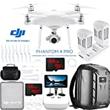 DJI Phantom 4 Pro+ Quadcopter Drone with the All-New DJI Phantom Camera Plus Extra Battery + Charging Hub and Custom Backpack 64GB Memory Bundle (CP.PT.000549)
