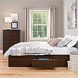 Prepac EBQ-6200-3K Queen Sonoma Platform Storage Bed with 6 Drawers, Espresso
