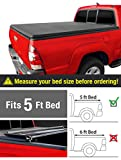 MaxMate Tri-Fold Truck Bed Tonneau Cover Works with 2015-2019 Chevy Colorado/GMC Canyon | Fleetside 5' Bed