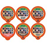 Double Donut Coffee Decaf Flavored Coffee Single Serve Cups For Keurig K Cup Brewer Variety Pack Sampler (24 count)