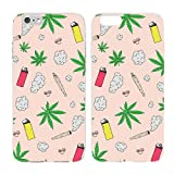 Case for iPhone 7 Plus - Cream Cookies - Ultra Slim Hard Plastic Cover Case - Weed - Weed Patterm - Weed Background - Cute - Teenager