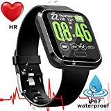 [New upgrade] Smart Watch for Android iOS-Men Women Waterproof Sports Fitness Trackers Watch | Heart Rate, Blood Pressure/Oxygen, Sleep Monitor Watch| GPS Pedometer Calories Replaceable Smart Bracelet