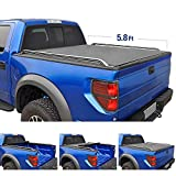 Tyger Auto T2 Low Profile Roll-Up Truck Bed Tonneau Cover TG-BC2D2064 works with 2009-2019 Dodge Ram 1500 (2019 Classic ONLY) | Without Ram Box | Fleetside 5.8' Bed