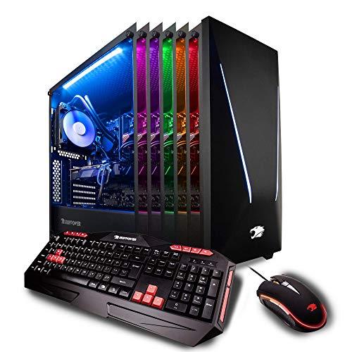 iBUYPOWER Pro Gaming PC Computer Desktop Intel i7-9700k 8-Core 3.6 GHz, Geforce RTX 2070 8GB, 16GB DDR4, 1TB HDD, 240GB SSD, Z370, Liquid Cooling, WiFi Ready, Windows 10, VR Ready (Trace 9230, Black)
