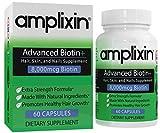 Amplixin Advanced+ Biotin Supplement - Hair Vitamins For Faster Hair Growth, Stronger Nails & Clearer Skin - Hair Loss Prevention & Nail Strengthener Product For Men & Women - 60 Capsules