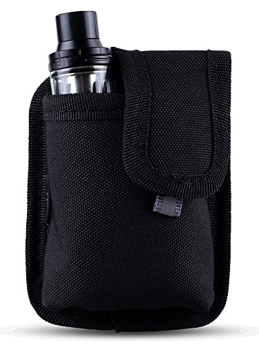 Vape Mini Pouch - Secure, Organized, Portable, Premium Vape Bag - Fits Small Mechanical Box Mods & Tank Holder - Wick and Wire (LowKey)