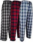 Andrew Scott Men's 3 Pack Cotton Flannel Fleece Brush Pajama Sleep & Lounge Pants (Large / 36-38, 3 Pack - Classic Flannel Assorted Plaids)