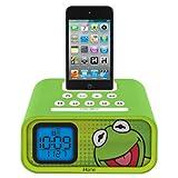 Kermit the Frog Dual Alarm Clock and 30-Pin iPod Speaker Dock (DK-H22)