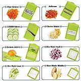 Vegetable Chopper, ONSON Food Chopper Cutter Onion Slicer Dicer, 10 in 1 Veggie Slicer Manual Mandoline for Garlic, Cabbage, Carrot, Potato, Tomato, Fruit, Salad