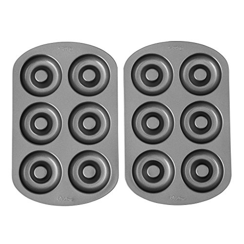 Wilton Non-stick Donut Baking Pans, 6-Cavity, Multipack of 2