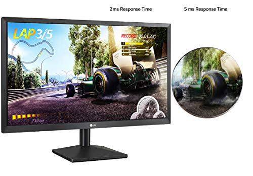 "51s67XZXwNL LG 27"" Full HD (1920 x 1080) TN Panel Monitor, HDMI & VGA Port, 2 ms Response Time, 75 Hz Refresh Rate & AMD Freesync - 27MK400H (Black)"