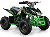Titan Outdoor Kids Children 24V Green Mini Quad ATV Dirt Motor Bike Electric Battery Powered
