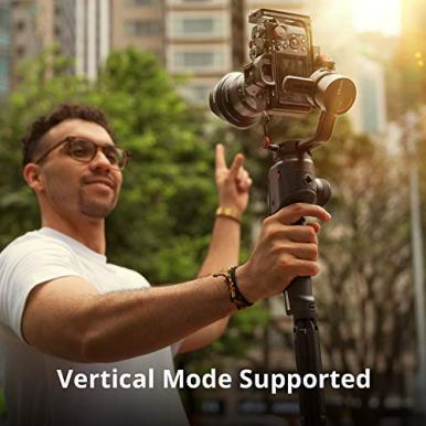 MOZA-AirCross-2-Gimbal-Handheld-Stabilizer-Lightweight-Powerful-Gimbals-12hours-Runtime-Up-to-71Lbs-for-DSLR-Mirrorless-Camera-With-Heavier-Lens-Easy-Set-Up-Intelligent-Features