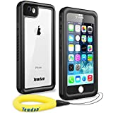 Temdan 33ft/10m Deep Floatable Waterproof Case for iPhone 6/6s(4.7inch) with Float Strap-Black/Clear