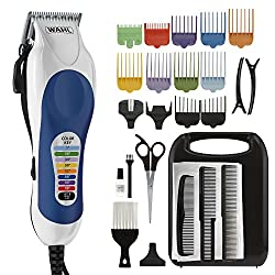 Wahl Color Pro Complete Hair Cutting Kit with Extended Accessories & Cape, Includes Color Coded Guide Combs and Color Coded Hair Length Key, Styling Shears, and Combs for Home Styling,79300-1001  Image