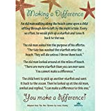 Starfish Poem Story 25 Laminated Cards for People Who Make a Difference Inspirational Appreciation Recognition Acknowledgement