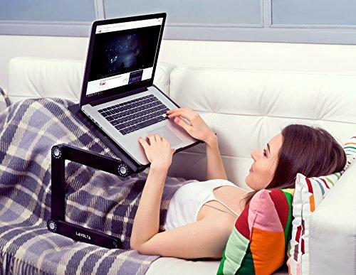 Lavolta Ergonomic Laptop Table Desk Breakfast Bed Tray Book Holder – Black