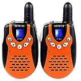 Retevis RT-602 Kids Walkie Talkies Rechargeable 22 Channel FRS VOX 2 Way Radio for Kids (Orange, 1 Pair)