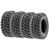 Set of 4 SunF A047 XC MX Hardpack UTV SxS Dual Sport Tires 30x10-15, 8 PR, Tubeless, all terrain off-road