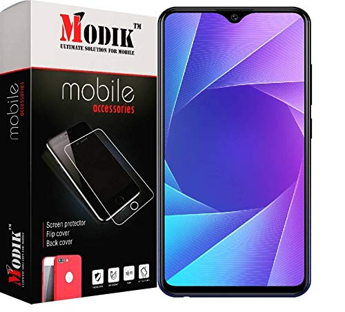 MODIK Vivo Y95 (2018) 6D (Next gen. of 5D) Full Edge to Edge 9H Hardness Crystal Clear Tempered Glass Screen Protector with Free Installation Cleaning Wipes [Black ] 1
