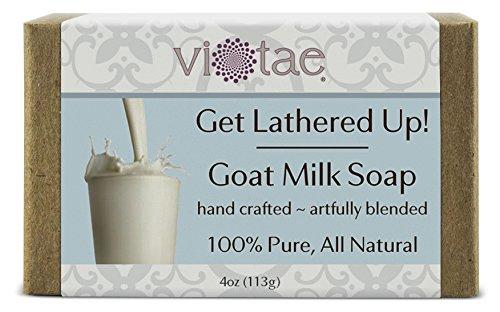 Vi-Tae 100% Natural and Organic Handmade 'Get Lathered Up' 4oz Soap Bars (Goat Milk)